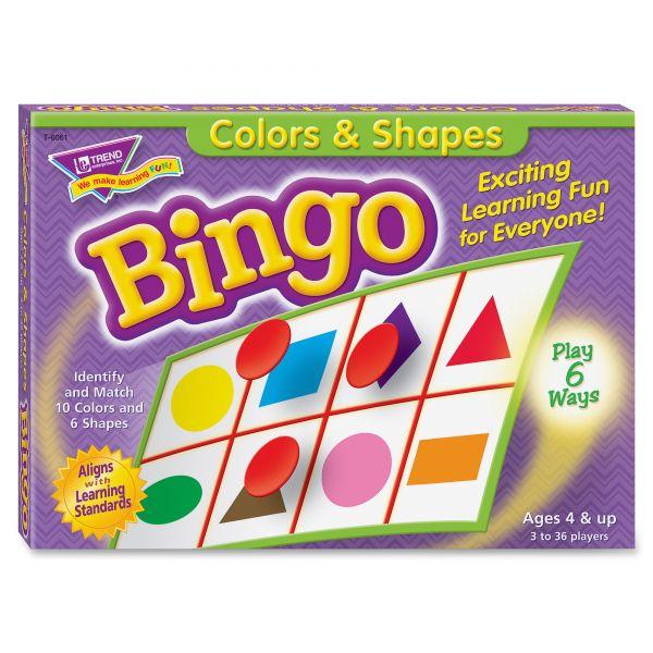 Colors & Shapes Bingo Game