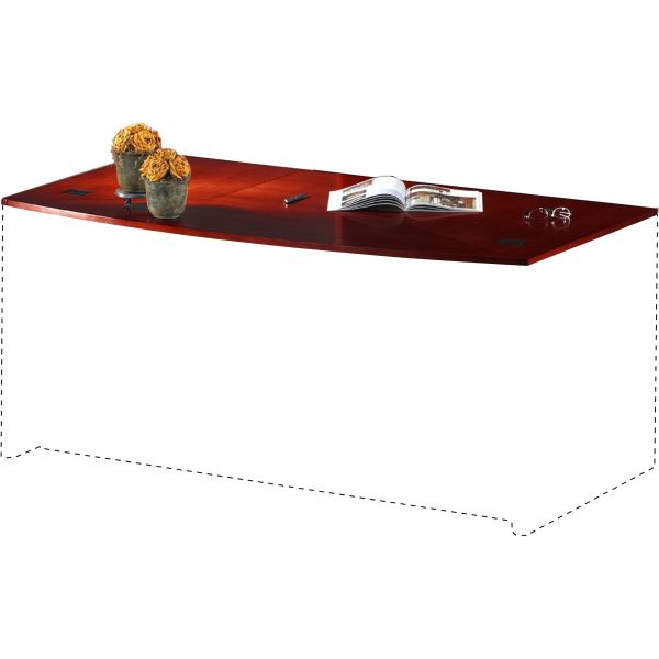 Tiffany Industries Corsica Series Bow Front Desk Top and Modesty Panel, 72w x 36d, Sierra Cherry
