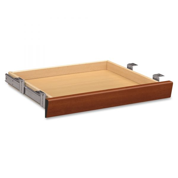 HON Laminate Angled Center Drawer, 22w x 15 3/8d x 2 1/2h, Cognac