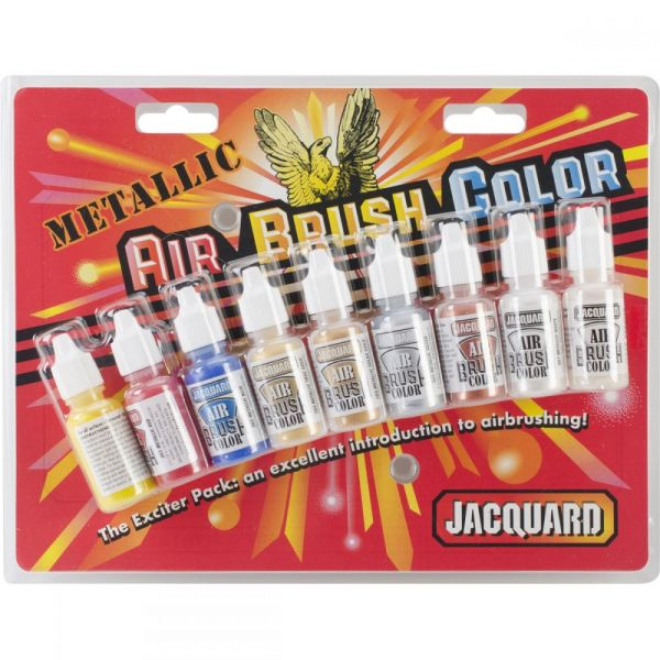 Jacquard Metallic Airbrush Color Pack .5oz 9/Pkg