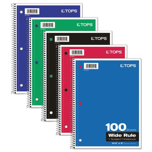TOPS Wirebound 1-Subject Notebook