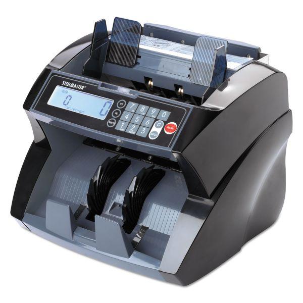 SteelMaster 4820 Bill Counter with Counterfeit Detection, 1900 Bills/Min, Black