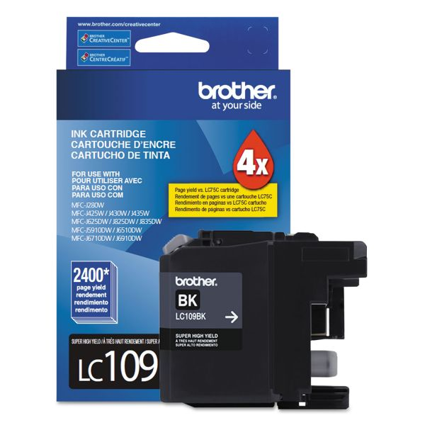 Brother LC109BK Super High-Yield Black Ink Cartridge