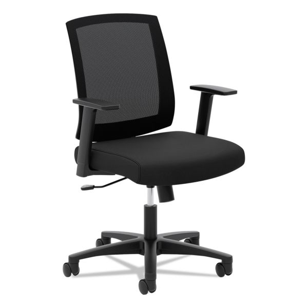 HON VL511 Mesh Mid-Back Task Chair with Arms, Black