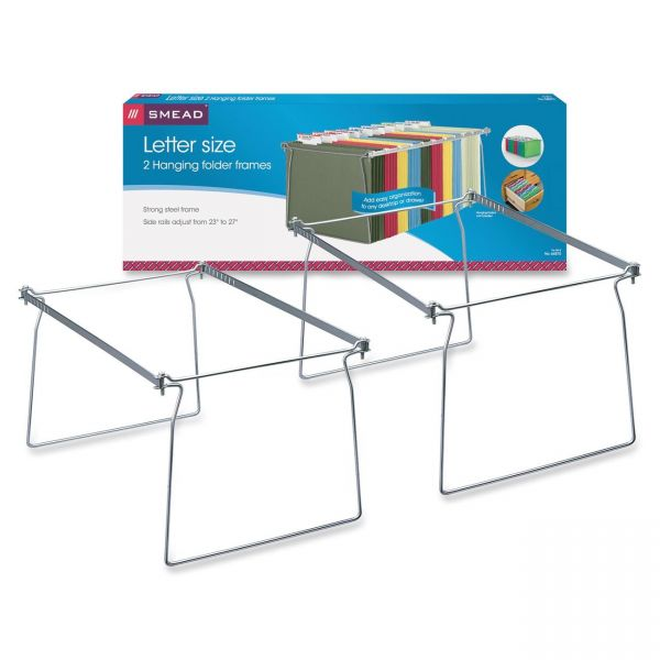 "Smead Hanging Folder Frame, Letter Size, 23-27"" Long, Steel, Two Per Pack"