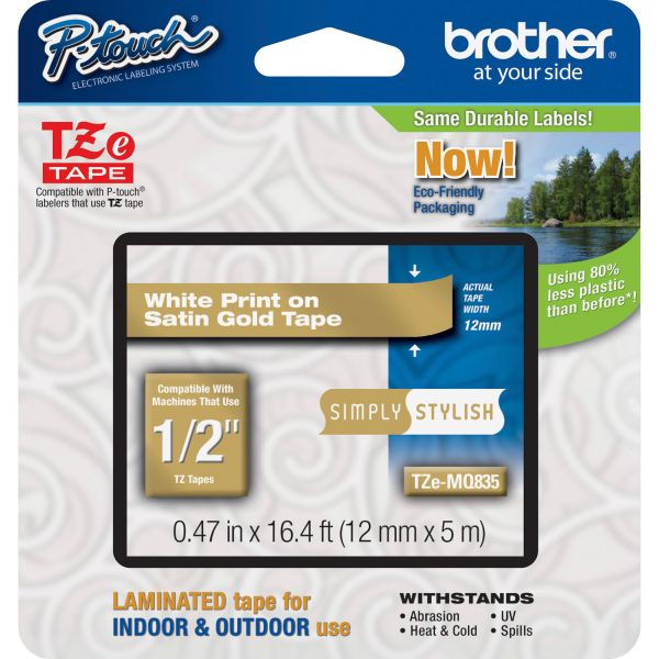 Brother P-Touch TZe Standard Label Tape Cartridge