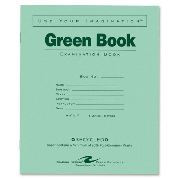 Roaring Spring Green Book Examination Books