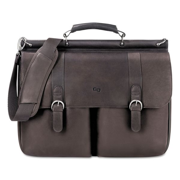 """Solo Classic Carrying Case (Briefcase) for 16"""" Notebook - Espresso"""