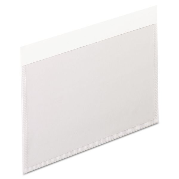 Pendaflex Self-Adhesive Pockets, 3 x 5, Clear Front/White Backing, 100/Box