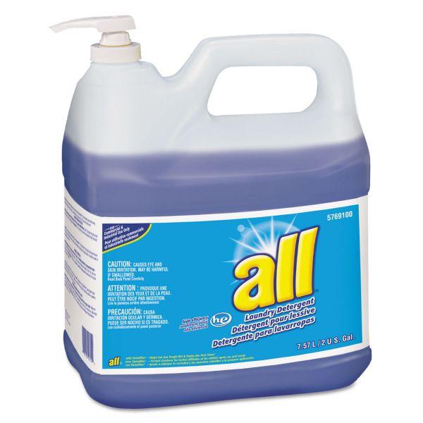 All HE Liquid Laundry Detergent, Original Scent, 2gal Pump Bottle, 2/Carton