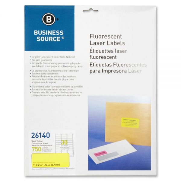 Business Source 26140 Color Coded Fluorescent Labels