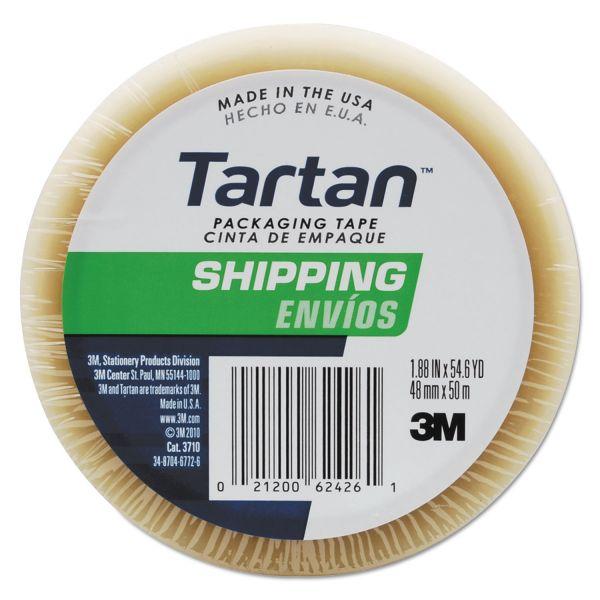"""Tartan 3710 Packaging Tape, 3"""" Core, 1.88"""" x 54.6yds, 3"""" Core, Clear"""