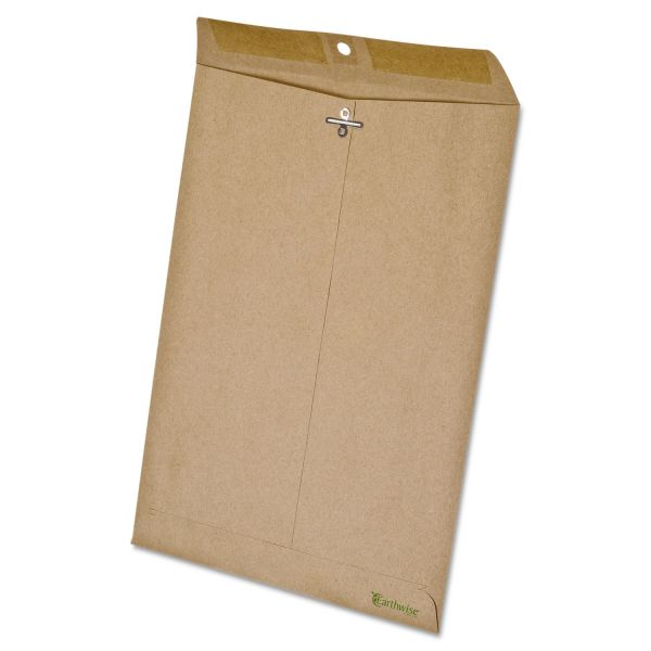 Ampad Earthwise by Ampad 100% Recycled Paper Clasp Envelope, 9 x 12, Brown, 110/Box