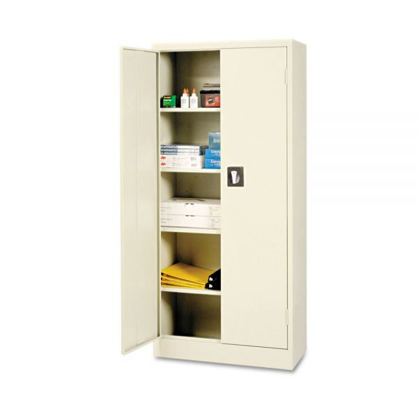 Alera Space Saver Storage Cabinet, Four Shelves, 30w x 15d x 66h, Putty