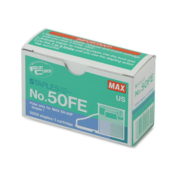 MAX No.50SE Flat Clinch Heavy-Duty Stapler Cartridge