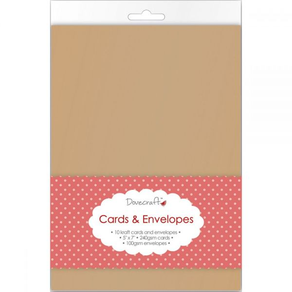 "Dovecraft Cards W/Envelopes 5""X7"" 10/Pkg"