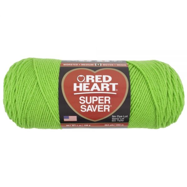 Red Heart Super Saver Yarn - Spring Green