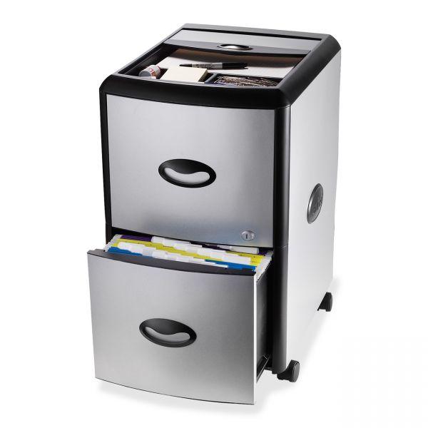 Storex 2 Drawer Mobile Filing Cabinet W/Tray