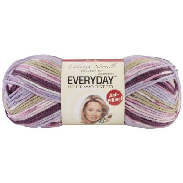 Deborah Norville Collection Everyday Soft Worsted Yarn - Lilac Ridge