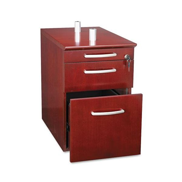 Mayline Napoli Pencil/Box/File Ped For Curved Desk Return, Sierra CY