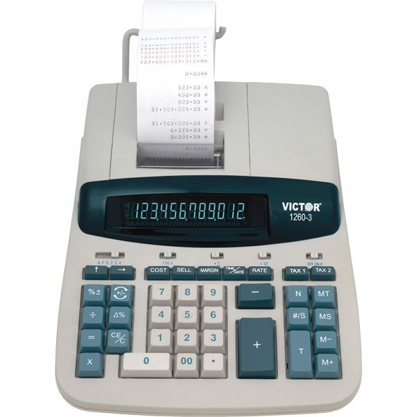 Victor 1260-3 Heavy Duty Commercial Printing Calculator