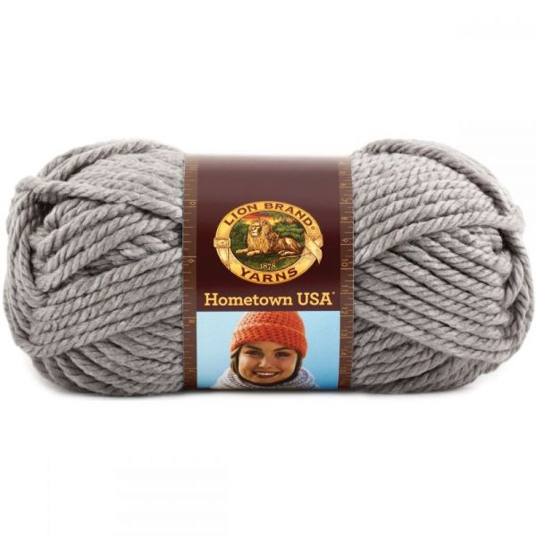 Lion Brand Hometown USA Yarn - Dallas Gray