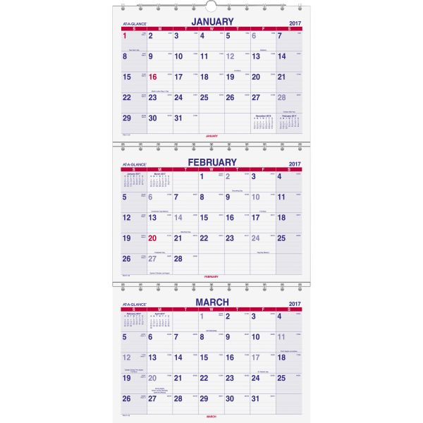 At-A-Glance Quarterly Wall Calender