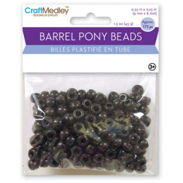 Barrel Pony Beads 6mmX9mm 175/Pkg