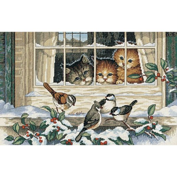 Dimensions Three Bird Watchers Counted Cross Stitch Kit