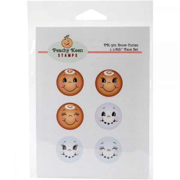 Peachy Keen Stamps Clear Face Assortment 6/Pkg