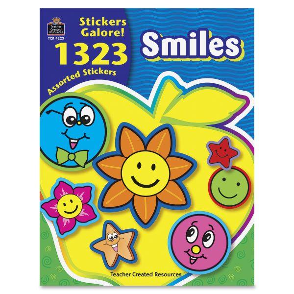 Teacher Created Resources Smiles Sticker Book