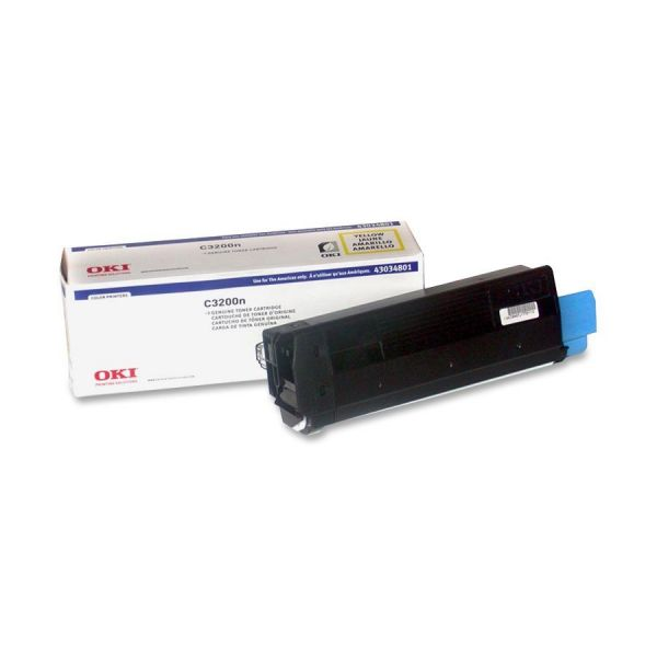 Oki 43034801 Yellow Toner Cartridge