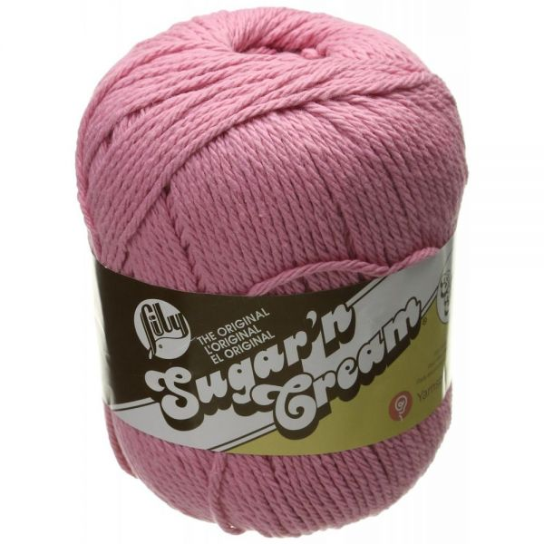 Lily Sugar'n Cream Super Size Yarn - Rose Pink