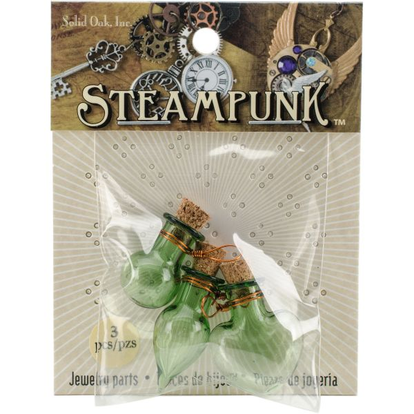 Steampunk Glass Accents 3/Pkg