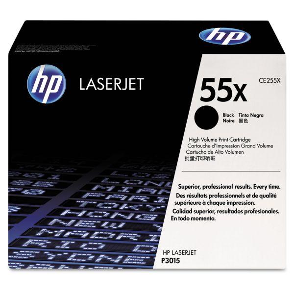 HP 55X Black High Yield Toner Cartridge (CE255X)