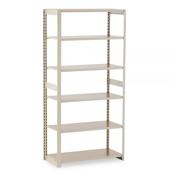 Tennsco Regal Shelving Add-On Unit, Six-Shelf, 36w x 18d x 76h, Sand