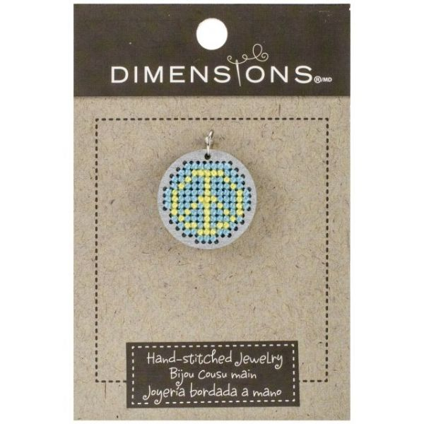 Dimensions Finished Small Wooden Jewelry Pendant