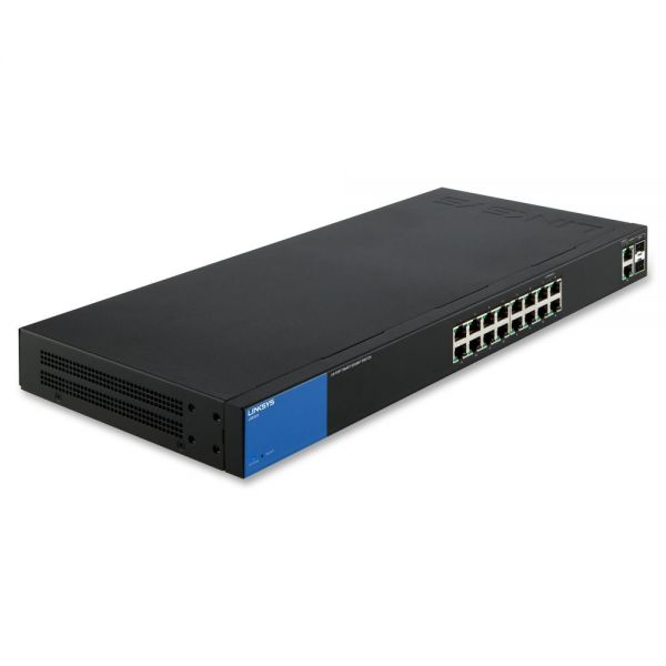 Linksys Business 16-Port Gigabit Smart Managed Switch with 2 Gigabit and 2 SFP Ports