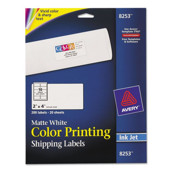 Avery Color Printing Shipping Labels