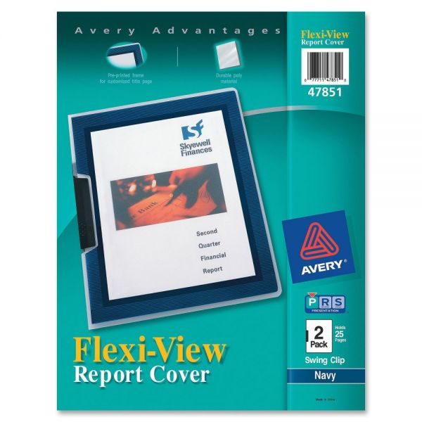 Avery Flexi-View Clear Front Report Covers
