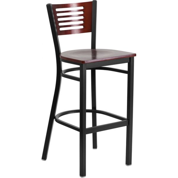 Flash Furniture HERCULES Series Decorative Slat Back Barstool