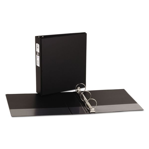 """Avery Economy Non-View Binder with Round Rings, 11 x 8 1/2, 2"""" Capacity, Black"""