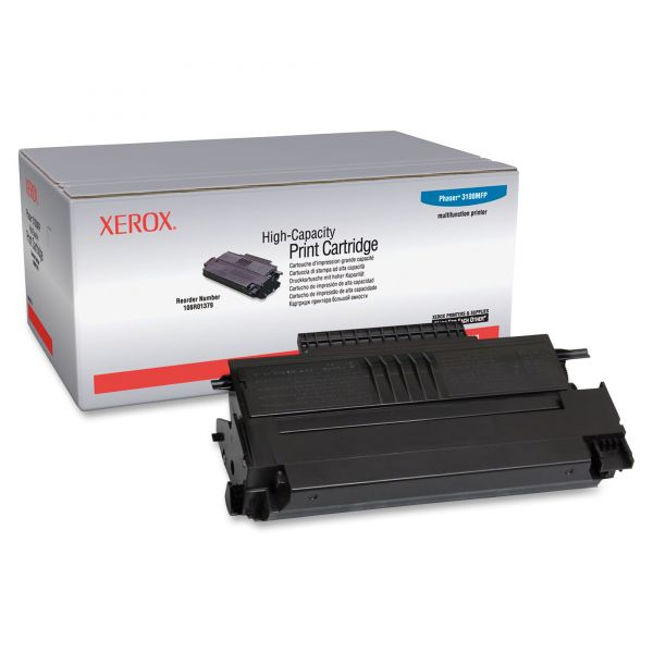 Xerox 106R01379 Laser Cartridge, High-Yield, 4000 Page-Yield, Black