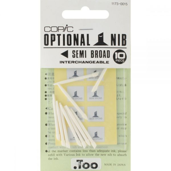Copic Original Marker Semi Broad Nibs 10/Pkg