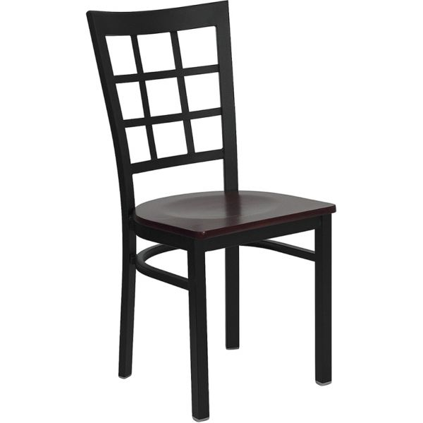 Flash Furniture Window Back Metal Restaurant Chair
