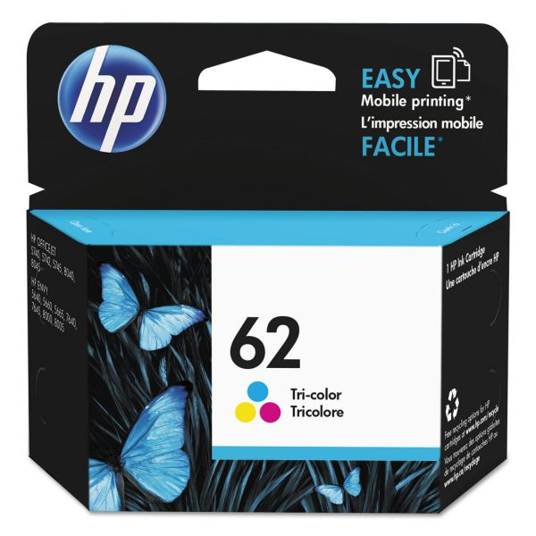 HP 62 Tri-Color Ink Cartridge (C2P06AN)