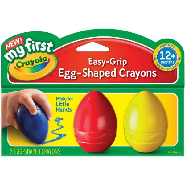 My First Crayola Easy Grip Egg Shaped Crayons 3/Pkg