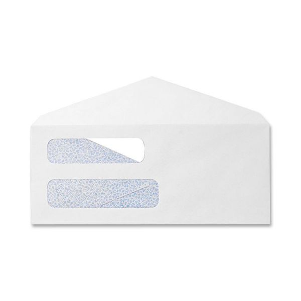 Sparco Double Window White Wove Envelopes