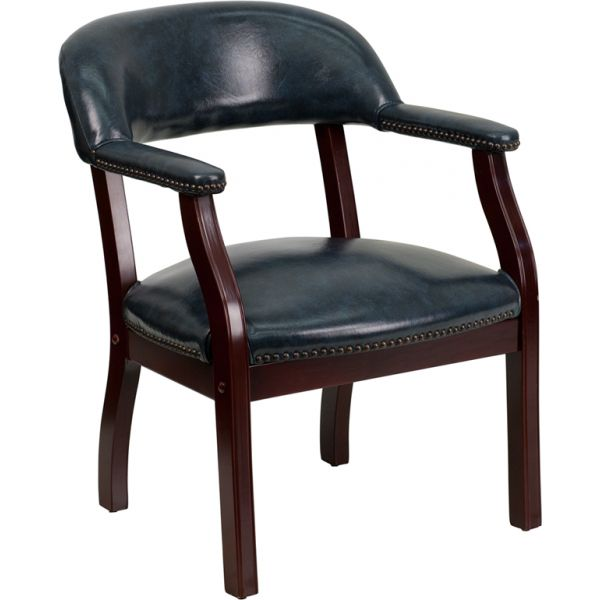 Flash Furniture Navy Vinyl Luxurious Conference Chair