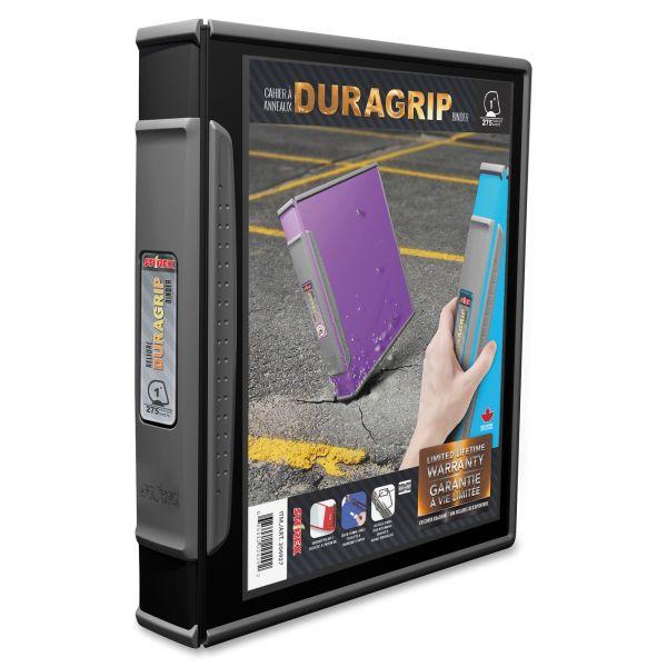 """Storex DuraGrip Binders, 1"""" Capacity, Black"""